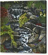 In A Country Garden Canvas Print