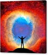 In Awe Of The Helix Nebula Canvas Print