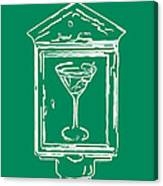 In Case Of Emergency - Drink Martini - Green Canvas Print
