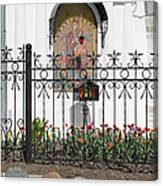 In Front Of Church Canvas Print