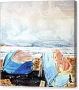In Secca Sulla Spiaggia Canvas Print
