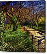 In The Conservatory Garden Canvas Print