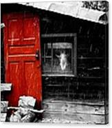 In The Goat House Canvas Print