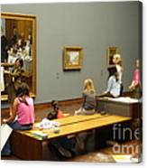 In The Museum Canvas Print