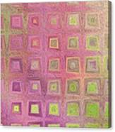 In The Pink With Squarish Squares  Canvas Print