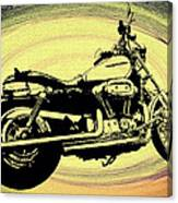 In The Vortex - Harley Davidson Canvas Print