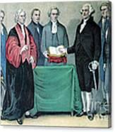 Inauguration Of George Washington, 1789 Canvas Print