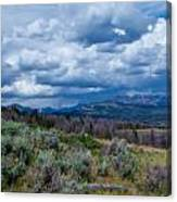 Incoming Storm In Wyoming Canvas Print