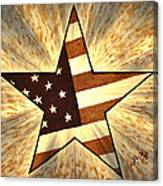Independence Day Stary American Flag Canvas Print
