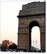 India Gate Milieu Canvas Print