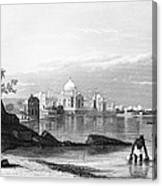 India: Taj Mahal, C1860 Canvas Print