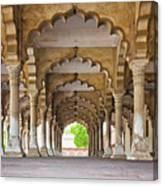 India, Uttar Pradesh, Agra, Agra Fort, Hall Of Public Audience Canvas Print