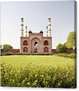 India, Uttar Pradesh, Agra, Sikandra, Akbar's Tomb Canvas Print