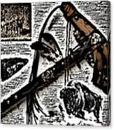 Indian Buffalo Jawbone Tomahawk Canvas Print