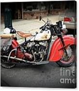 Indian Chief Motorcycle Rare Canvas Print