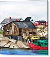 Indian Harbour Peggys Cove  Nova Scotia Canvas Print