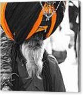 Indian Man Wearing Turban Canvas Print