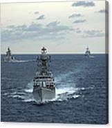 Indian Navy Corvette Ship Ins Kulish Canvas Print