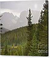 Indian Peaks Colorado Rocky Mountain Rainy View Canvas Print