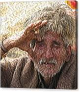 Indian Tribal Man Canvas Print