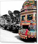 Indian Truck Canvas Print