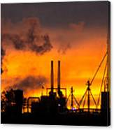 Industrial Strength Sunset Canvas Print