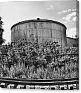 Industrial Tank In Black And White Canvas Print
