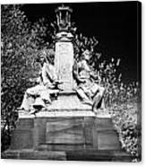 industry and commerce bronze sculpture on the kelvin way bridge kelvingrove park Glasgow Scotland UK Canvas Print