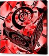 Infinity Time Cube Red Canvas Print