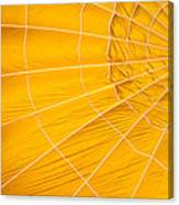 Inflating Folds Of Yellow Canvas Print