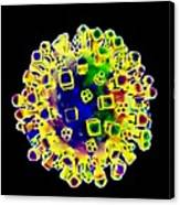 Influenza Virus, Artwork Canvas Print