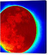 Infrared Super Moon 2012 Canvas Print