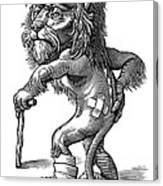 Injured Lion, Conceptual Artwork Canvas Print