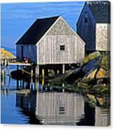 Inlet At Peggys Cove Nova Scotia Canvas Print