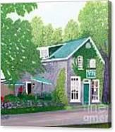 Inn on Lake n the Mountain  Canvas Print