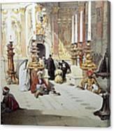 Inside Holy Specular Church In Jerusalem Canvas Print