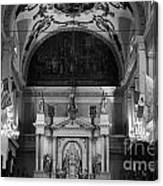 Inside St Louis Cathedral Jackson Square French Quarter New Orleans Black And White Canvas Print