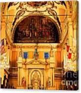 Inside St Louis Cathedral Jackson Square French Quarter New Orleans Ink Outlines Digital Art Canvas Print