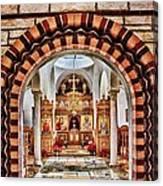 Inside St. Nicholas Chapel At A Greek Monastary In Florence Az Canvas Print