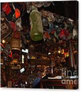 Inside The Bar In Luckenbach Tx Canvas Print