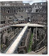 Inside The Colosseum Canvas Print