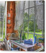 Inside The Cottage Canvas Print
