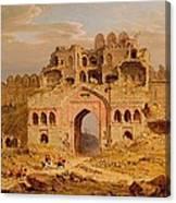 Inside The Main Entrance Of The Purana Qila - Delhi Canvas Print