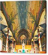 Inside The Painted Church Canvas Print