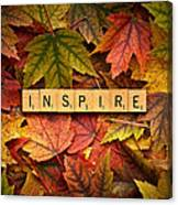 Inspire-autumn Canvas Print