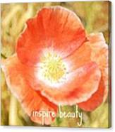 Inspire Beauty Poppy Floral Canvas Print