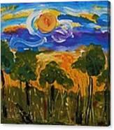 Intense Sky And Landscape Canvas Print
