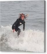 Intense Surfer Canvas Print