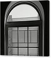 Interior - Windows In Black And White Canvas Print