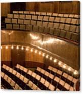 Interior Of An Illuminated Art Deco Theater Canvas Print